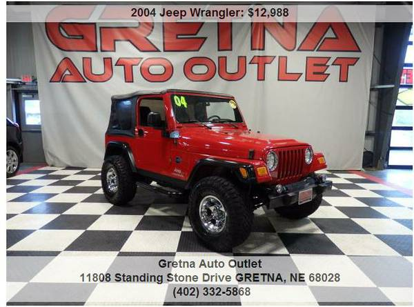 2004 Jeep Wrangler*LIFTED UP SPORT 4X4 ONLY 98K AUTO HUSKER RED 4.0L 6