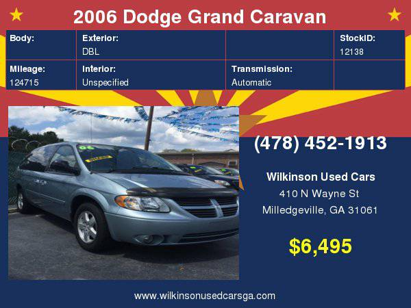 2006 Dodge Grand Caravan SXT 4dr Extended Mini Van