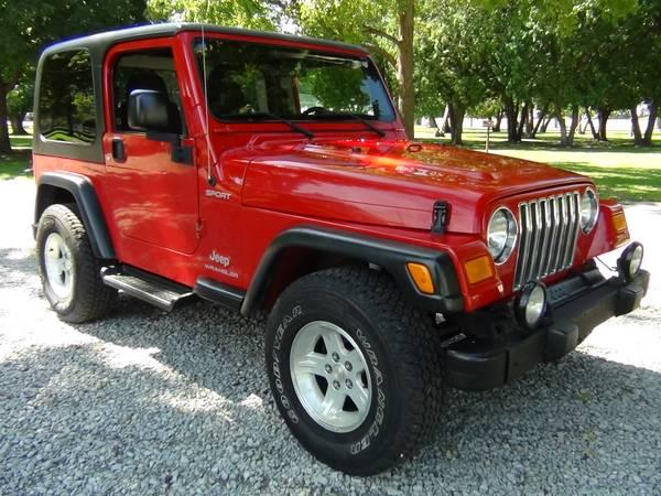 2004 Jeep Wrangler Sport, 4x4, Straight Six, Auto, AC, NICE!