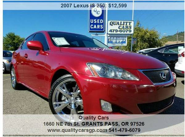 2007 Lexus IS250 **2-OWNR, HTD/CLD LTHR, NAVI, CLEAN** Head Turner!!!!