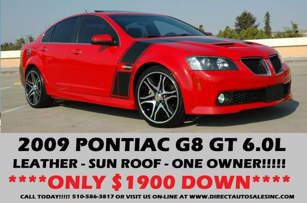 ►2009 PONTIAC G8 GT RED LOW MILES!!$1900DOWN GXP GTO SS Z28