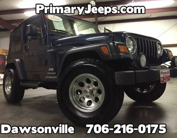 2003 *Jeep* *Wrangler* 4x4 Sport -IN HOUSE FINANCE-FREE SHIPPING-WARRA