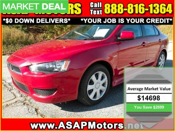 2014 Mitsubishi Lancer 4dr Sdn CVT ES FWD **$0 DOWN DELIVERS**