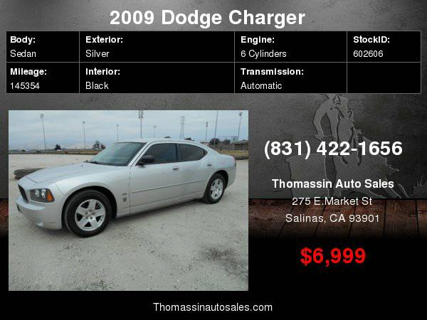 2009 Dodge Charger 4dr Sdn SXT RWD