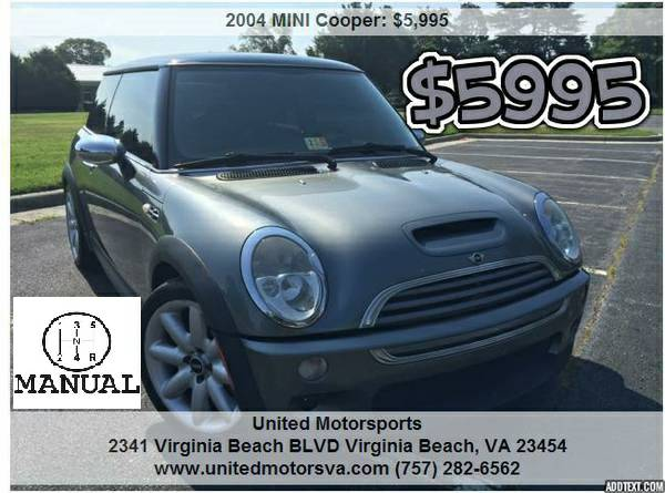 ___2004 MINI COOPER S__SUPERCHARGED__CARFAX CERTIFIED__CLEAN HISTORY