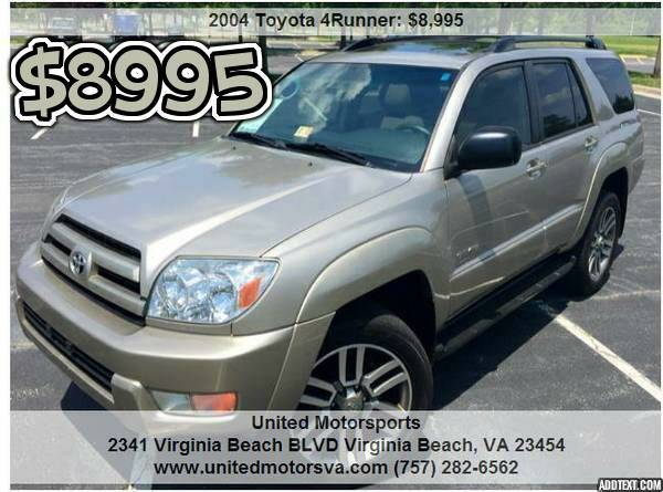 ___2004 TOYOTA 4RUNNER SR5_4WD__CARFAX CERTIFIED!___VERY CLEAN___