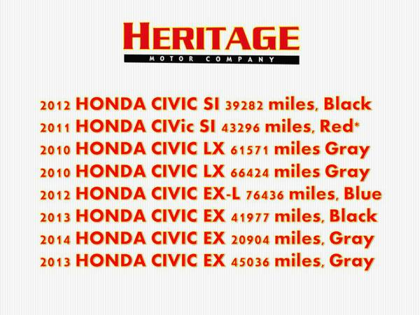 2013 HONDA CIVIC EX= WE HAVE 8 CIVICS IN STOCK!! CALL NOW