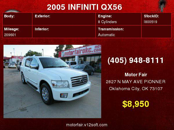 2005 INFINITI QX56 **You Are Approved!**