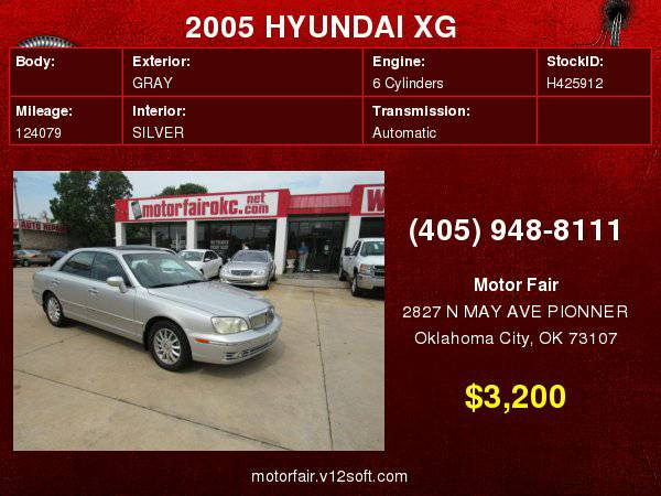 2005 HYUNDAI XG 350 **You Are Approved!**