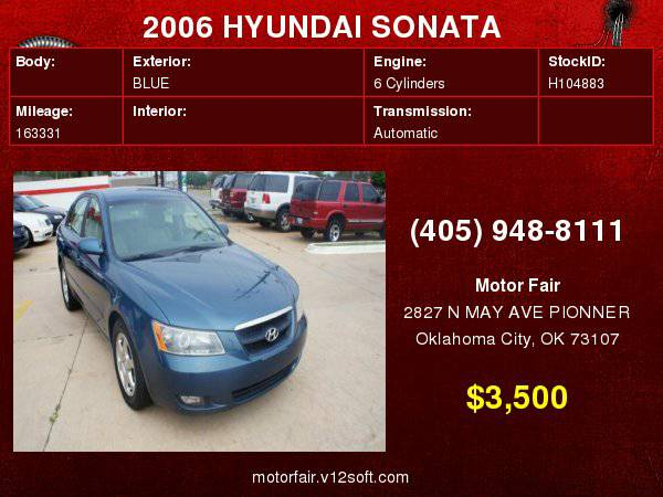 2006 HYUNDAI SONATA GLS **You Are Approved!**