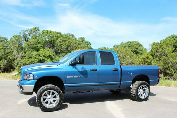 STANCED OUT 2003 DODGE RAM 3500-SHORT BED 5.9L DIESEL 4X4-LOOKS GREAT!