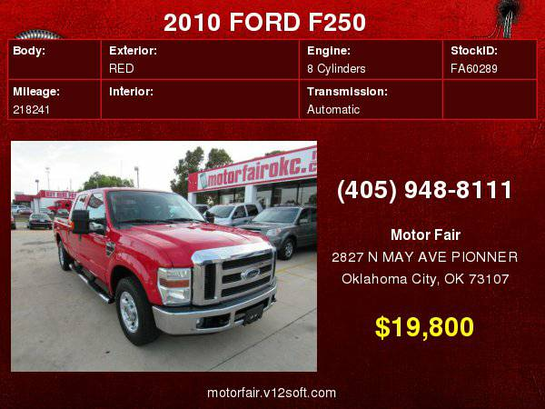2010 FORD F250 SUPER DUTY **You Are Approved!**