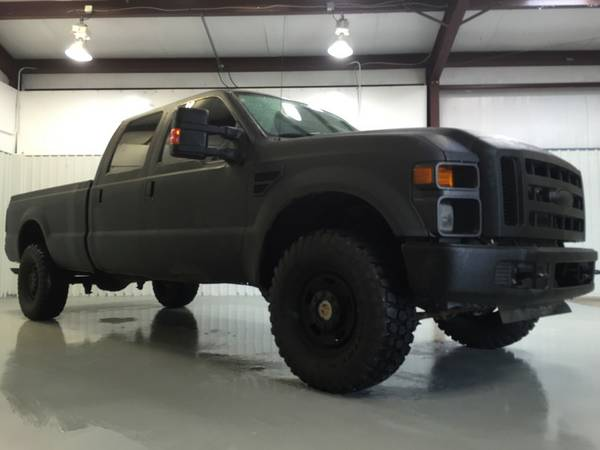 2008 FORD F350 *4X4*RHINO LINER*LIFT*LEATHER*LOADED*HUGE TIRES*TINT!!