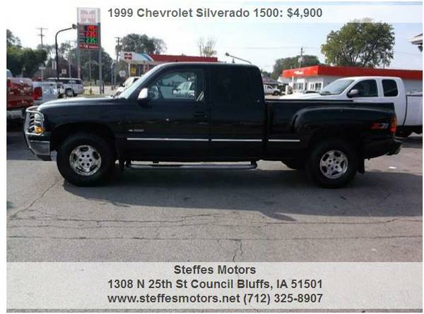 1999 Chevrolet Silverado 1500 Ext Cab Shortbox Stepside 4x4