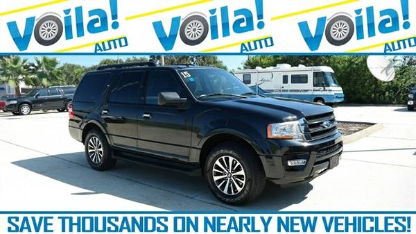 2015 FORD EXPEDITION XLT, BLACK