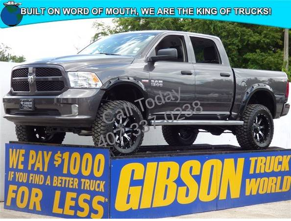 USED 2014 RAM 1500 6 LIFTED MONSTER GIBSON FORD CHEVY DODGE TRUCK...