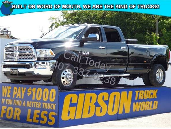 USED 2015 RAM 3500 CUMMINS DIESEL GIBSON FORD CHEVY DODGE TRUCK WORLD