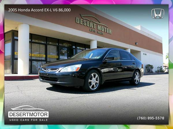 Stunning 2005 Honda Accord EX-L V6 86,000 Miles priced to sell!
