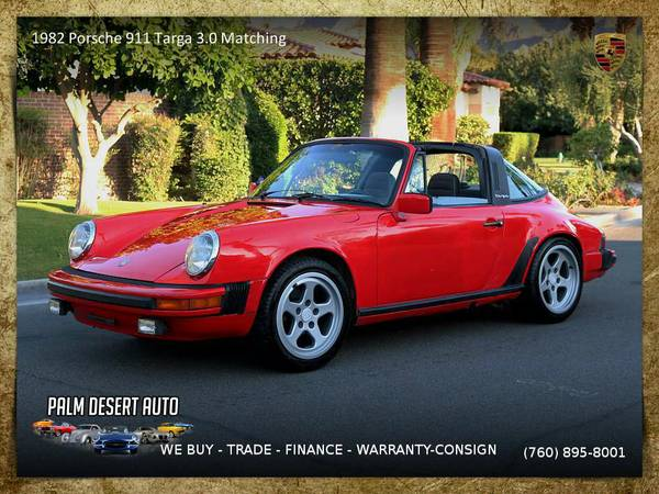 1982 Porsche 911 Targa 3.0 Matching Numbers Convertible which runs...