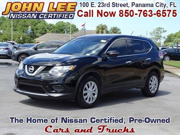 2014 *Nissan Rogue* S - (Super Black) 4 Cyl.