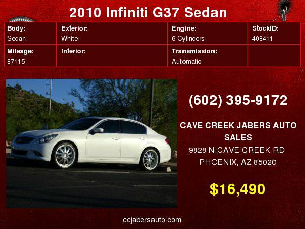 2010 Infiniti G37 Sedan 4dr Journey RWD TECH PACKAGE