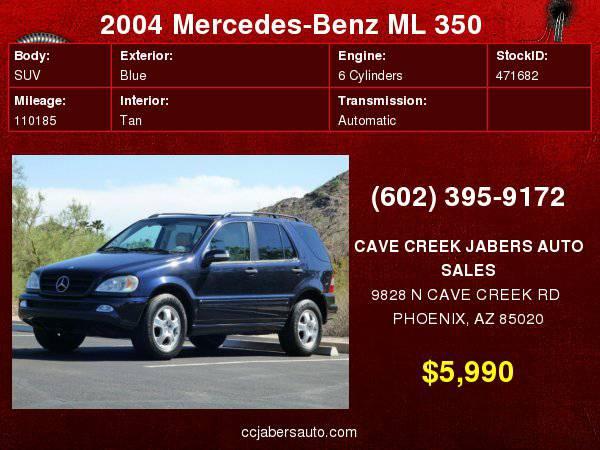 2004 Mercedes-Benz M-Class 4dr 4MATIC 3.7L Classic