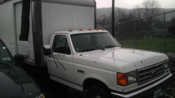 1991 Ford F-350 Box Truck, with roll-up doors on 3 sides. New Rebuild.