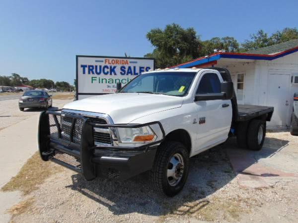 2011 Dodge Ram 3500 Flatbed 4X4 Rust Free Florida Truck