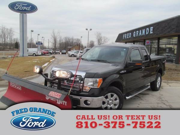 2013 Ford F-150 XLT Super Cab 4X4 w Snow Plow