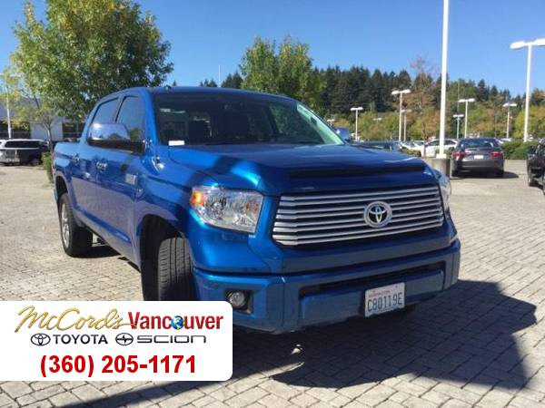 2016 Toyota Tundra Platinum 5.7L V8 CARFAX Leather Seats Truck 16