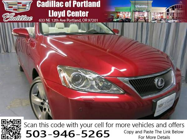 2010 LEXUS IS350C AUTOMATIC (JTHFE2C25A2502415)
