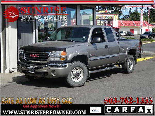 2003 *GMC* *Sierra* *2500* SLE 4dr Extended Cab 4WD LOW MILES!