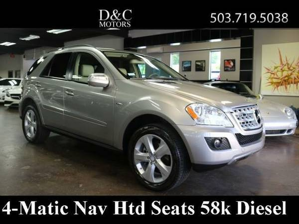 2009 Mercedes-Benz ML320 4Matic BlueTEC Nav Htd Seats Just 58k 1-Owner
