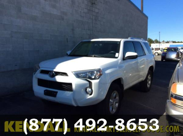 2015 Toyota 4Runner WHITE GO FOR A TEST DRIVE!