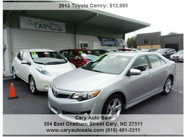 2013 TOYOTA CAMRY SE, ONE OWNER, WARRANTY!