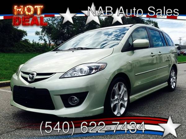 2008 MAZDA MAZDA5, GREEN, LEATHER, CLEAN, SUNROOF, INSPECTED