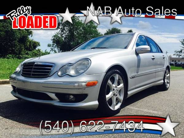 2007 MERCEDES C230, SILVER, LEATHER, SUNROOF,CARFAX, INSPECTED