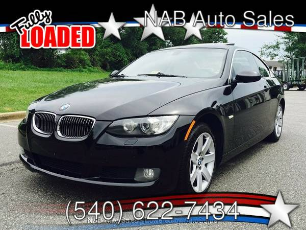 2007 BMW 328I, BLACK, AWD, COUPE, DVD, NAVIGATION, CLEAN AND INSPECTED