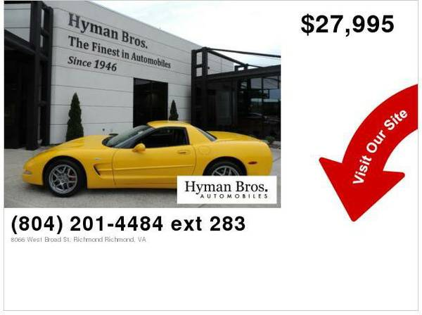 2003 Chevrolet Corvette Z06 6-Speed Manual, Only 15,000 Miles!