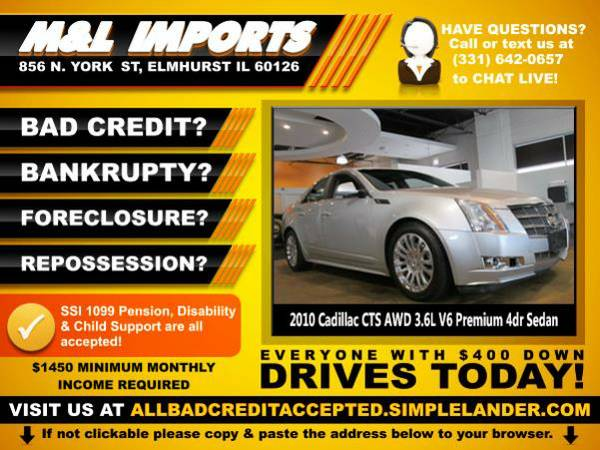 🌟 2010 *Cadillac CTS* BAD CREDIT? Drive something NICE for...