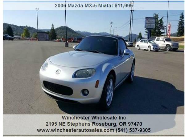 2006 Mazda MX-5 Miata Sport 2dr Convertible 71786 Miles