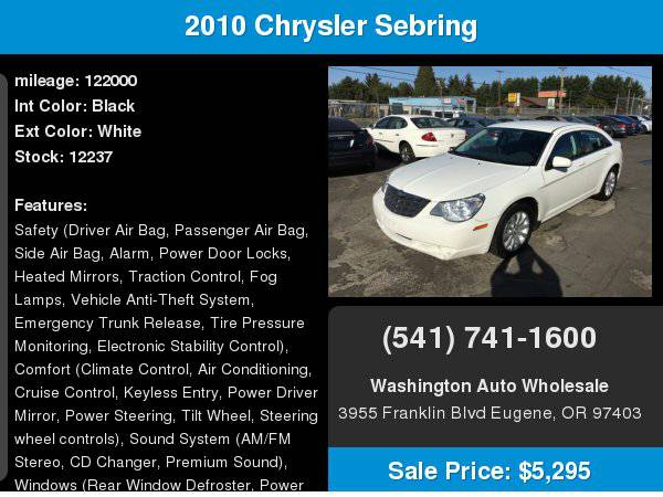 2010 Chrysler Sebring 4dr Sdn Limited Leather Loaded