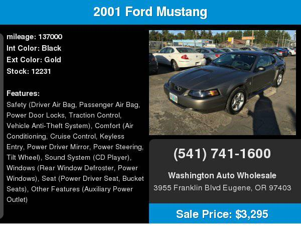 2001 Ford Mustang 2dr Cpe Deluxe Auto