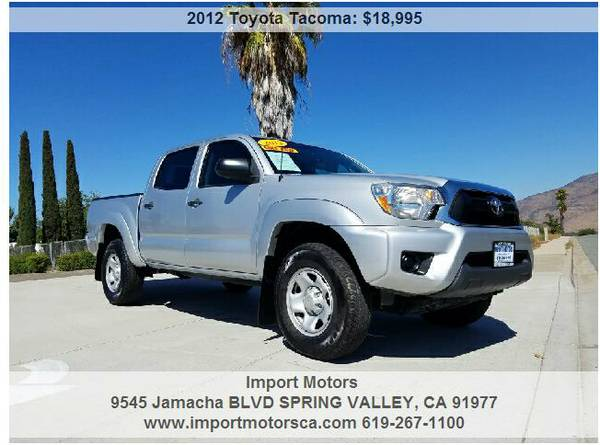 2012 TOYOTA TACOMA PRERUNNER DOUBLE CAB - 48K MILES - 4 CYLINDER