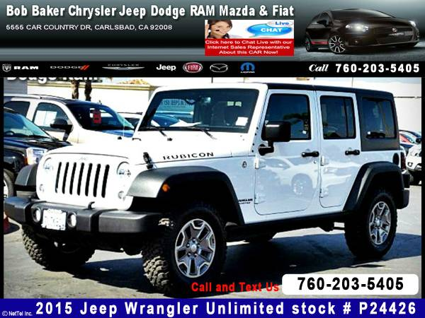 2015 Jeep Wrangler Unlimited Rubicon Stock #P24426