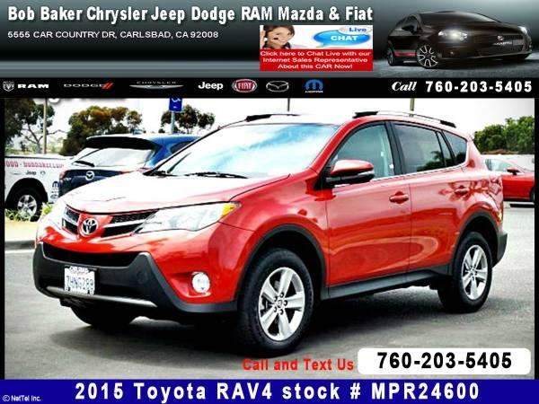 2015 Toyota RAV4 XLE Stock #MPR24600