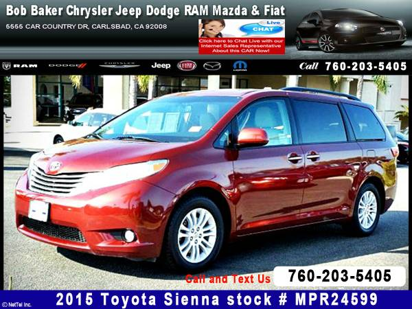 2015 Toyota Sienna XLE AAS Stock #MPR24599
