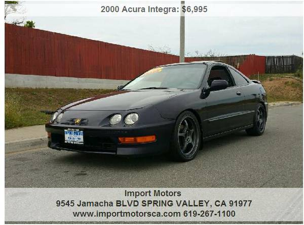 2000 ACURA INTEGRA GSR - GS-R - DOHC VTEC - LOW MILES! - 5SPD -LEATHER