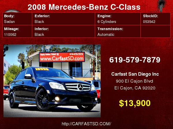 2008 Mercedes-Benz C350 Sport RWD in immaculate shape