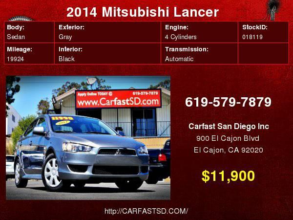 2014 Mitsubishi Lancer 4dr Sdn AUTO ES ONLY 19k Miles
